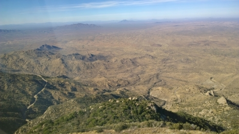 View from Kitt Peak - note road in left hand corner