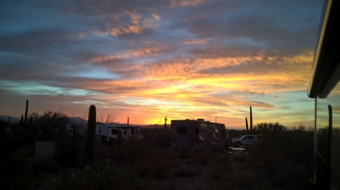 Sunset at Gilbert Ray Campground