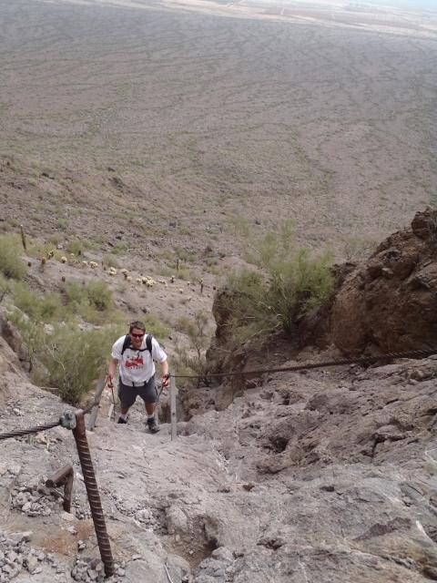 Longest two wire descent