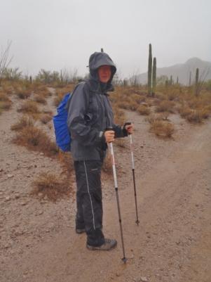 Rain gear gets some use