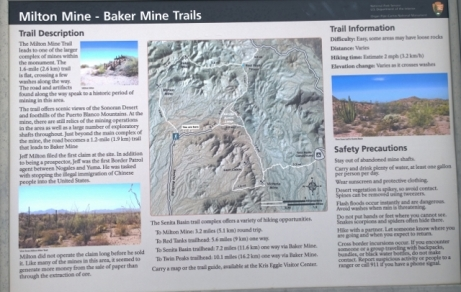 Milton and Baker Mine trails with return through Red Tanks