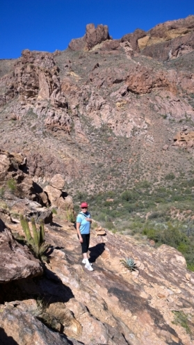 Sharon in Arch Canyon