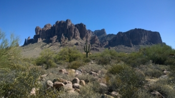 Superstition Mountains from MTB trail