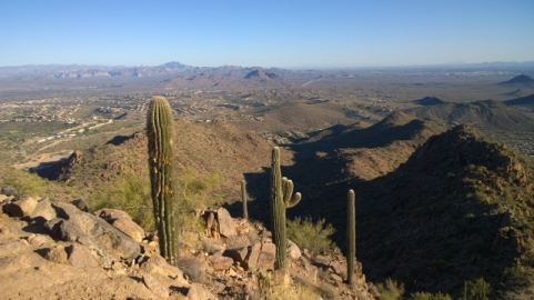View of Fountain Hills from Sunrise Peak