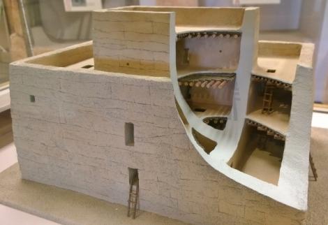 Casa Grande cut away model