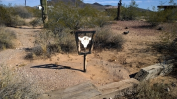 Butterfield Trail original signpost
