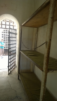 6 Prisoners per cell (3 bunks on each side)