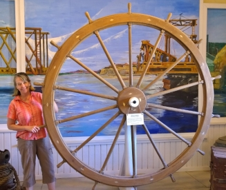 Steamboat Pilot House Wheel