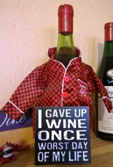 Old Time Wine Cellar sign - I guess we won't give up wine!