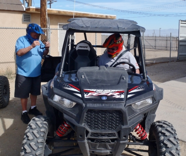 Wayne and Brian getting ready for ATV'ing