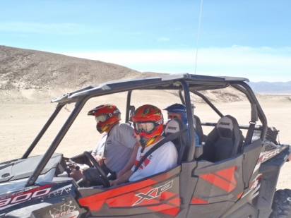 Joel driving ATV for first time