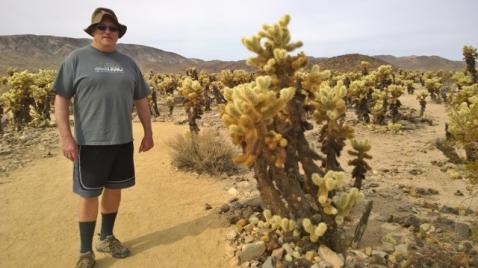 Brian in Cholla Cactus Garden