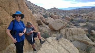 Hiking up Mastodon Peak Trail