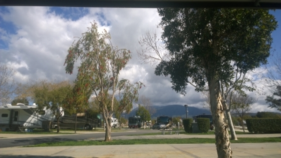 View from our campsite at Pechanga RV Resort