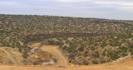 Below Santa Rosa Dam
