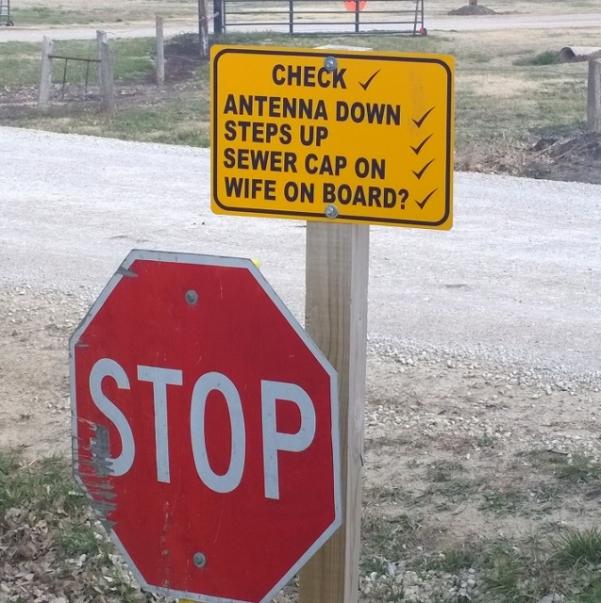 Exit sign Salina KOA