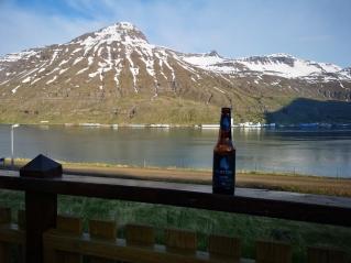 Einstock Toasted Icelandic Porter along Seydisfjordur