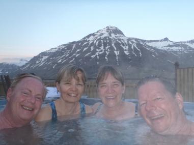 Langahlid Cottage hot tub in Seydisfjordur
