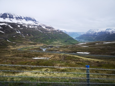 Driving up and out from Seydisfjordur