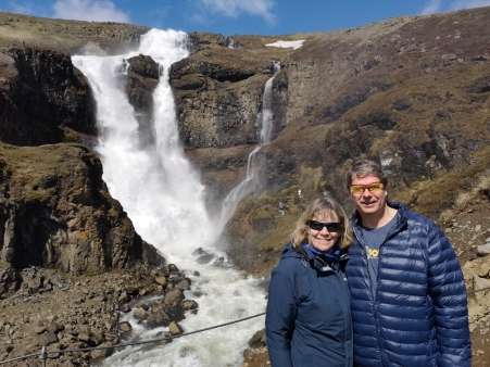Sharon and Joel at Rjukandafoss