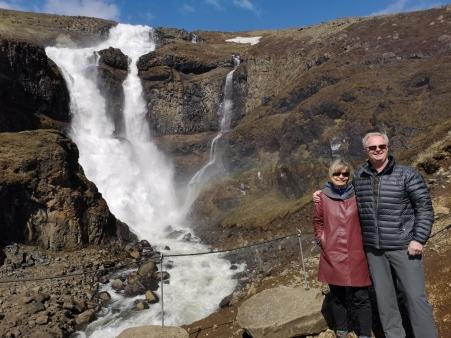 Linda and Phil at Rjukandafoss