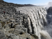 Dettifoss Waterfall with Linda, Sharon, and Phil