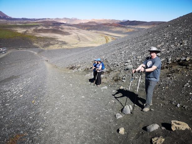 Climbing Hverfjall Crater