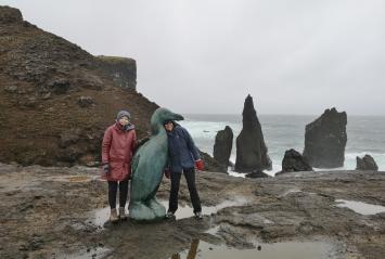 Extinct Great Auk Statue