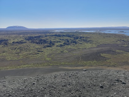 View of Dimmuborgir from Hverfjall Crater