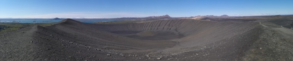 Panoramic of Hverfjall Crater