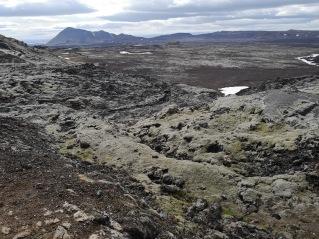 Leirhnjukur lava with green moss