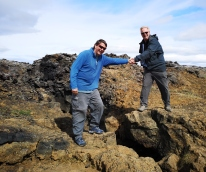 Crossing the tectonic plate fissure
