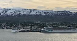 Cruise Ships in Akureyri - left the next morning
