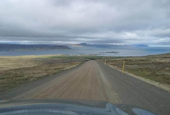 Driving in Westfjords