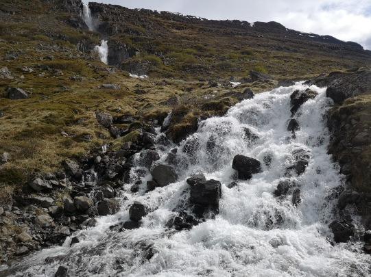 Waterfall along road