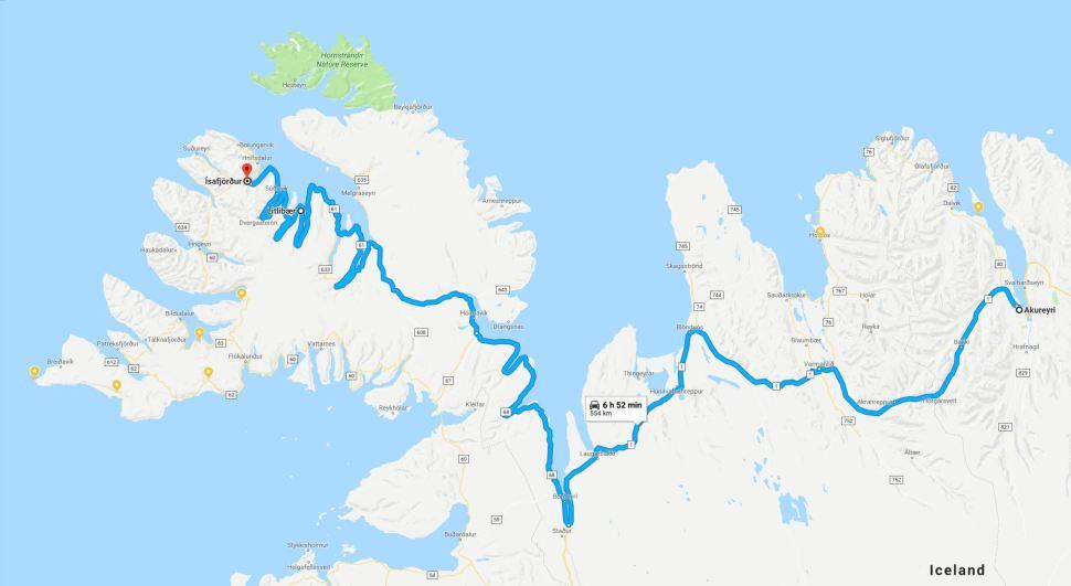 Day Seven route