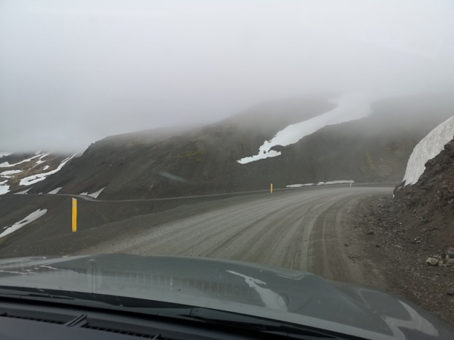 Slippery muddy mountain pass