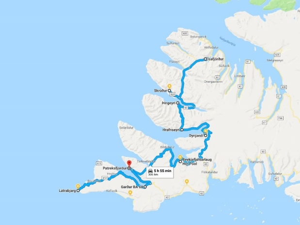 Day 8 Route