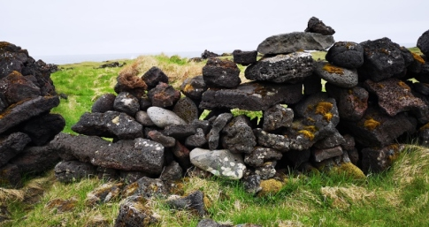 Lave rock fence - seen everywhere in Iceland