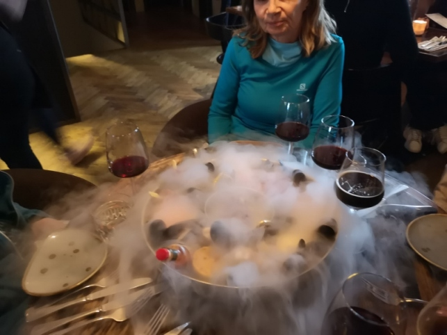 Fruits de Mer with dry ice
