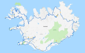 2018 Iceland full route