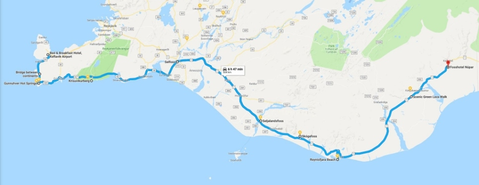 Day Two route