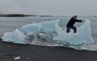 Joel riding the Iceberg