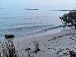 Mackinac Bridge from Straits SP