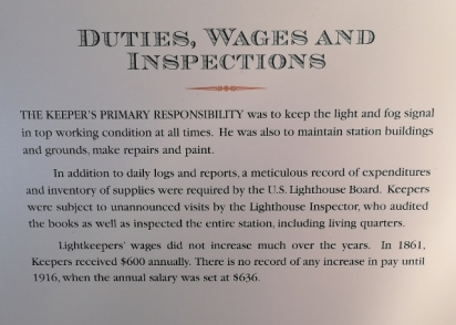 Lighthouse Keeper wages - not much of an increase in 55 years