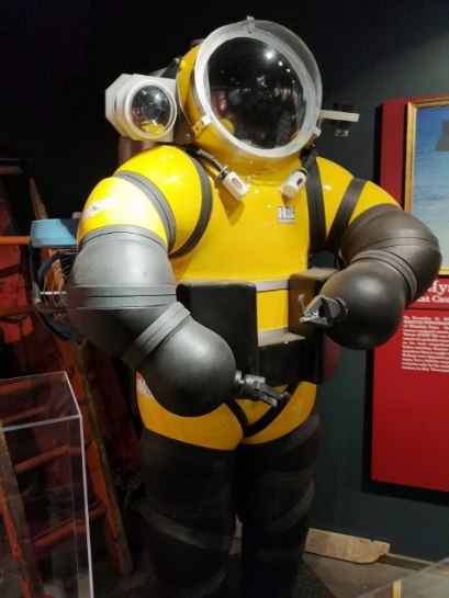 Newt Suit used to retrieve bell from Edmund Fitzgerald