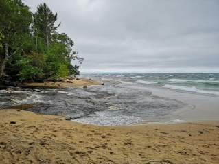 Hurricane River outflow into Lake Superior