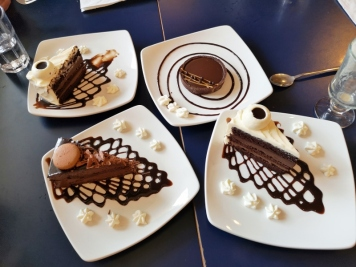 Amazing desserts at Prairie Ink Cafe