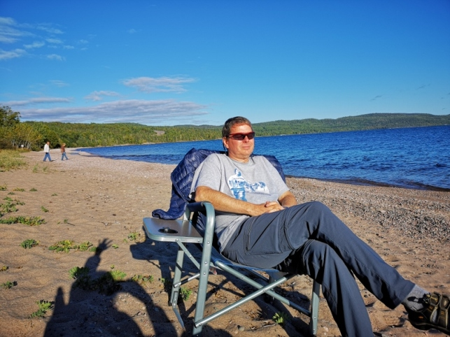 Beach in front of our campsite at Rainbow Falls (Rossport)