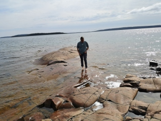 Playing in Lake Superior